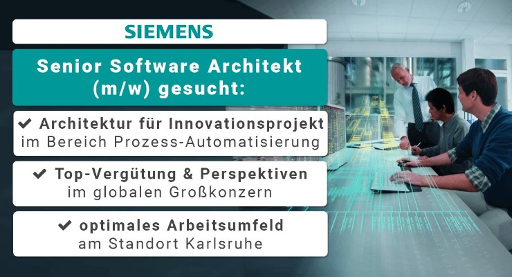 Senior software architekt m w gesucht for Architekt gesucht